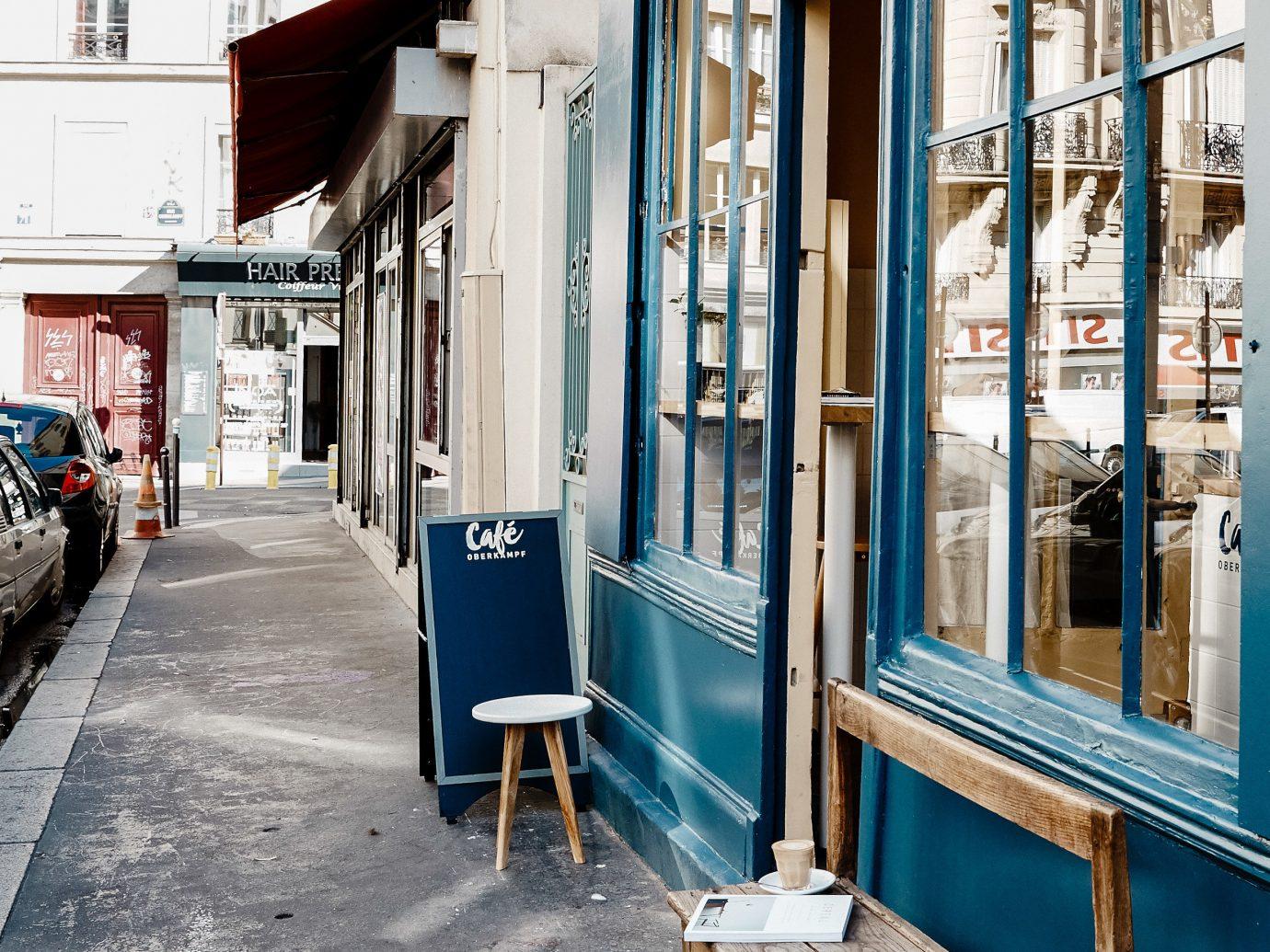 Food + Drink building outdoor Town urban area way street window neighbourhood City sidewalk road alley door facade house