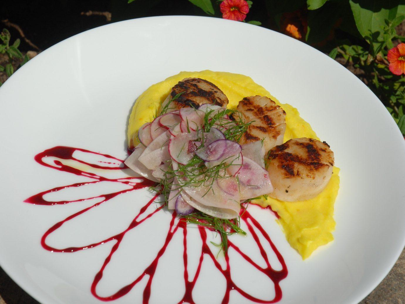 Boutique Hotels Hotels Outdoors + Adventure Trip Ideas Weekend Getaways plate food dish meal produce cuisine breakfast meat