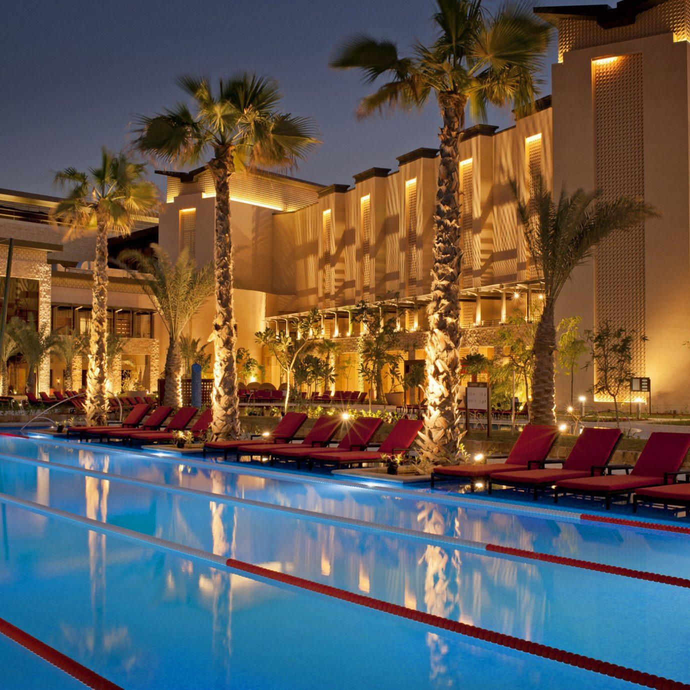 sky swimming pool Resort night palace plaza evening bright