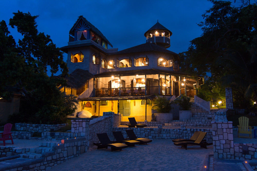 tree house night Resort evening mansion home lighting landscape lighting palace light