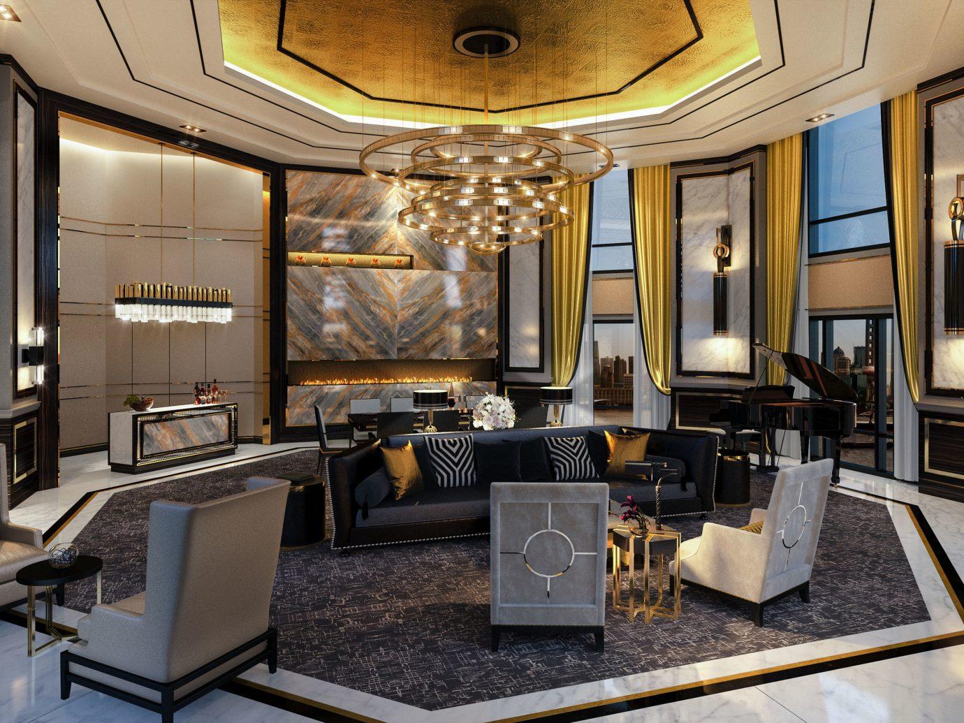 Boutique Hotels Luxury Travel indoor floor interior design room living room ceiling Living Lobby interior designer furniture