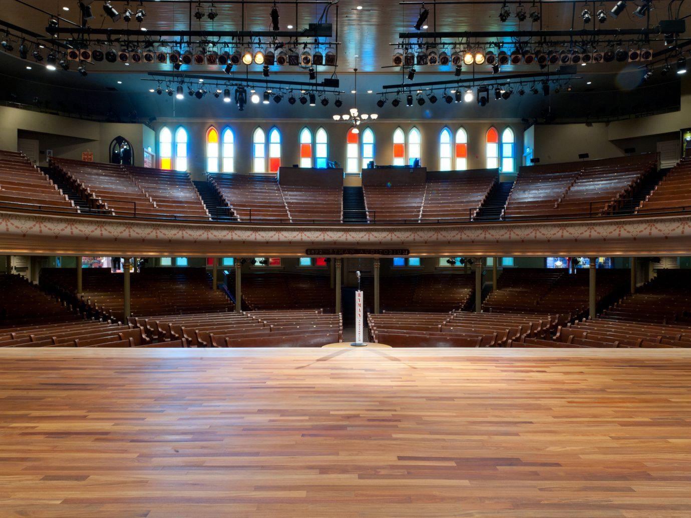Arts + Culture Austin Nashville Trip Ideas building indoor floor structure auditorium night sport venue wood shape arena line several