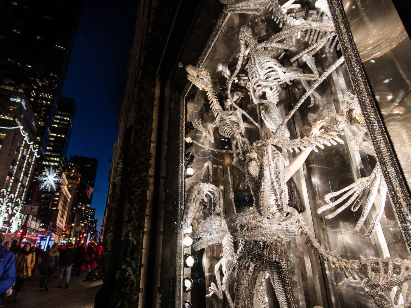 Offbeat Winter landmark urban area metropolis City night tourist attraction building street altar
