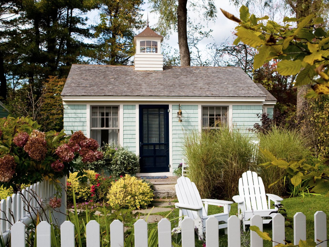 Exterior of a cabin at The Cottages at Cabot Cove, Maine