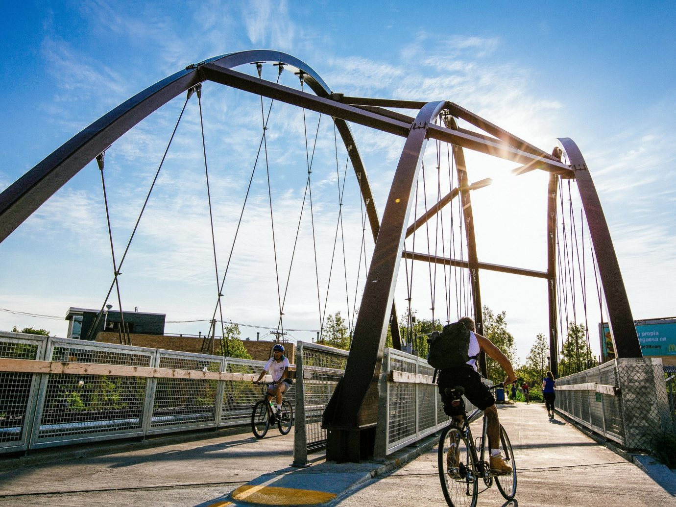 Trip Ideas sky outdoor truss bridge bridge transport park arch railing Playground