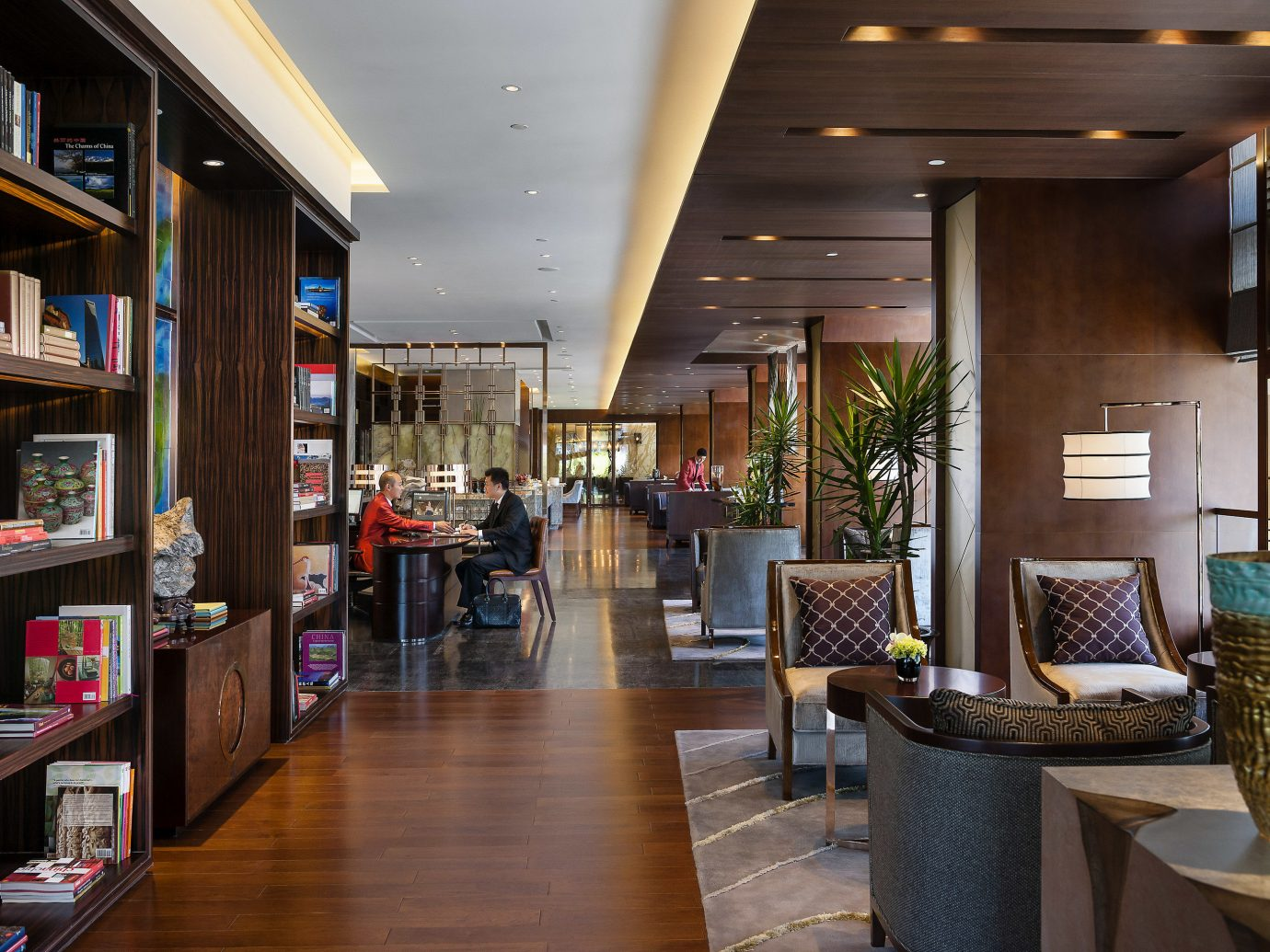 Boutique Hotels Luxury Travel indoor floor shelf ceiling room interior design Lobby café restaurant several