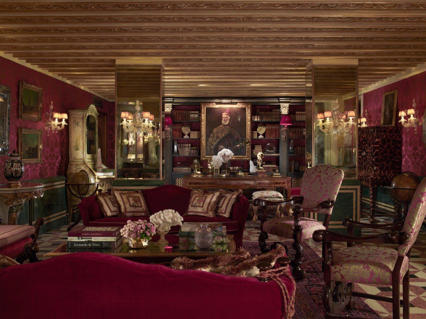City Elegant Historic Lounge Luxury Trip Ideas room indoor Living restaurant red interior design meal Boutique furniture Bar area several