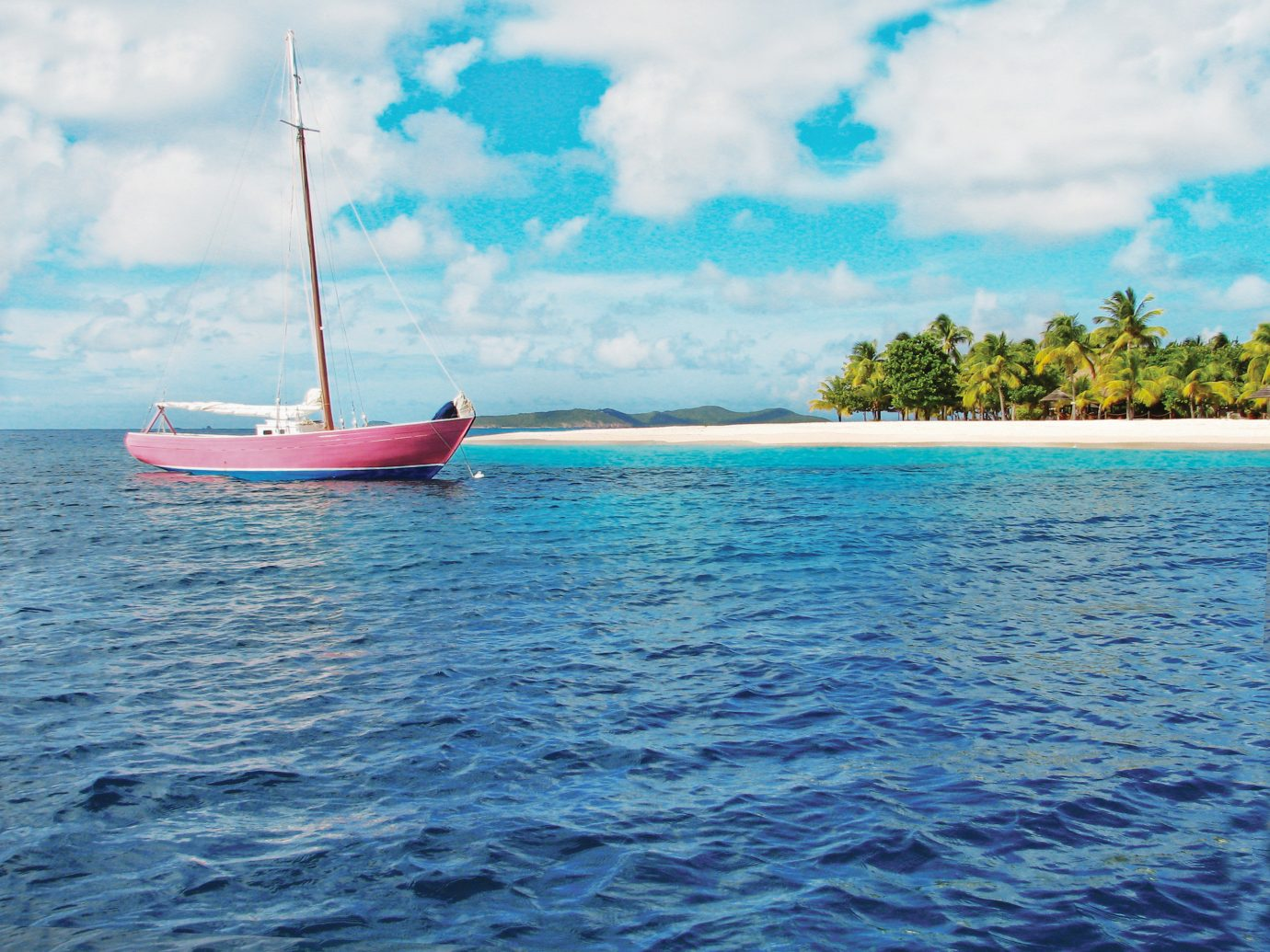 Hotels water outdoor sky Boat watercraft vehicle sailboat Sea sailing transport Ocean caribbean bay boating Lagoon sailing vessel sail Island day