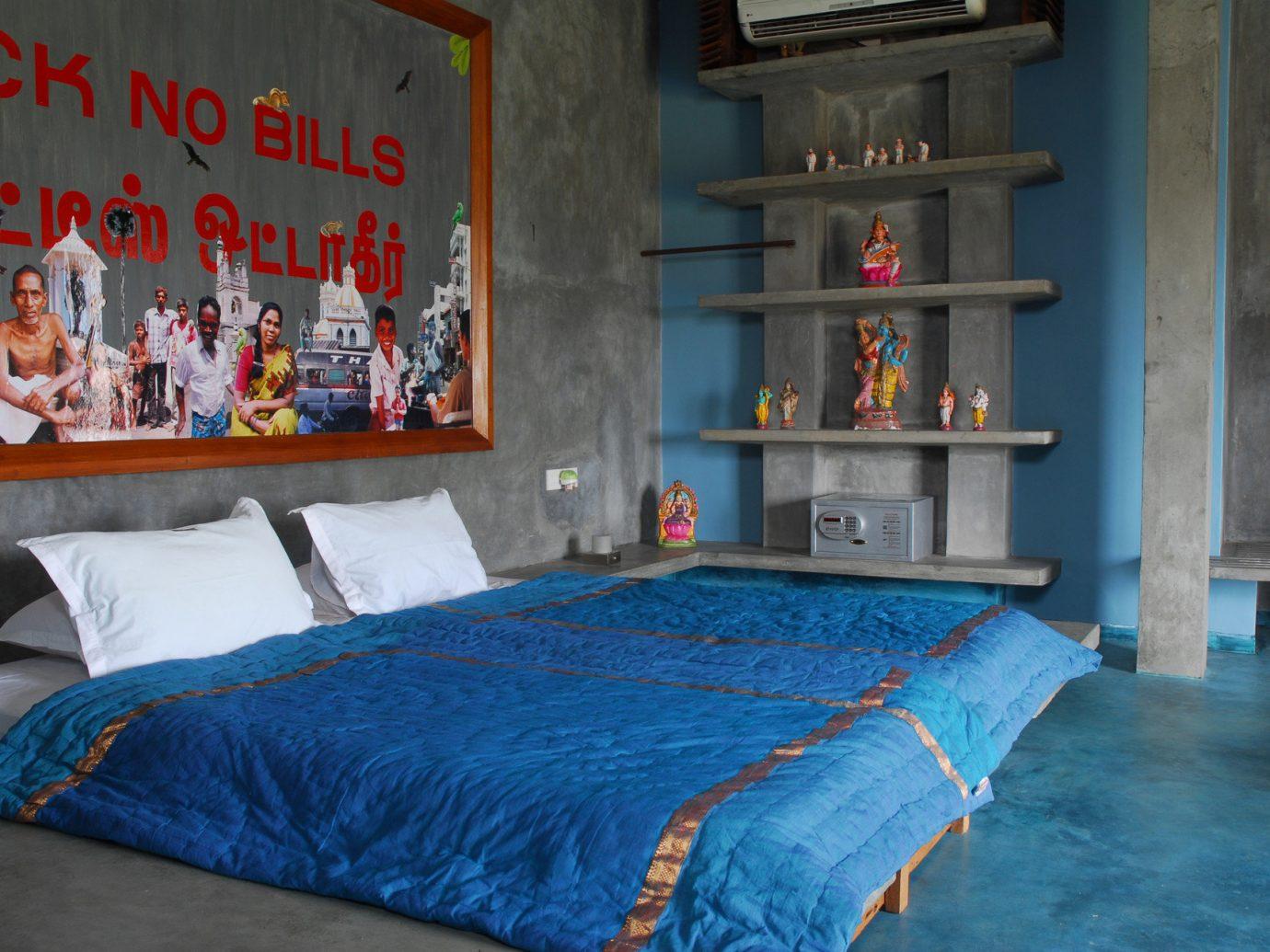 Hotels indoor blue room furniture interior design estate bed sheet screenshot Bedroom