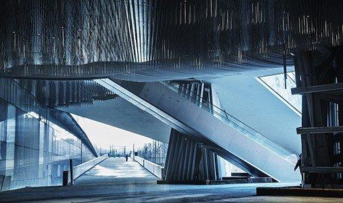 Trip Ideas blue outdoor Architecture light reflection darkness bridge symmetry
