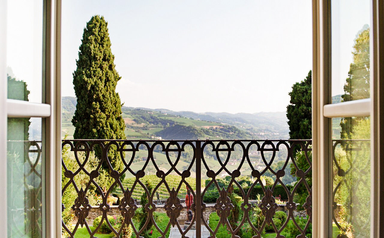 Food + Drink Hotels Italy Luxury Travel Trip Ideas building window property iron real estate estate Balcony outdoor structure plantation facade porch