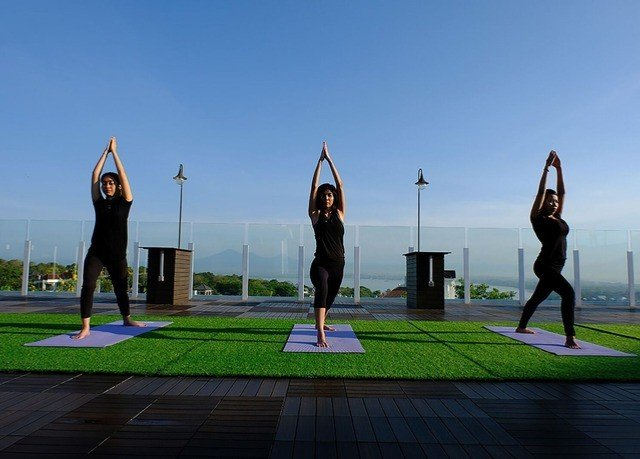 sky grass structure physical fitness sports sport venue yoga Sport day