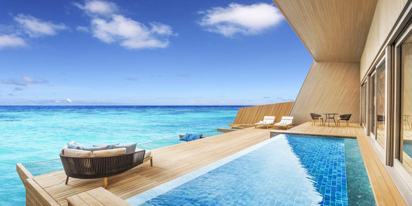 Hotels sky water swimming pool leisure vacation caribbean Sea Pool Ocean Resort estate Villa blue Deck shore