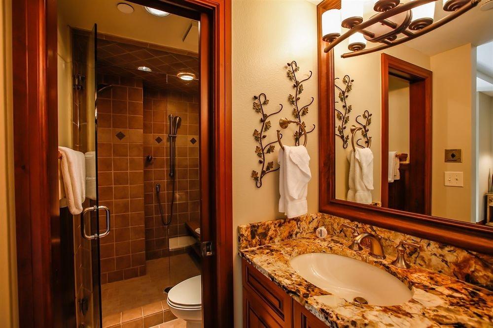 bathroom mirror sink property home Suite towel tile tiled