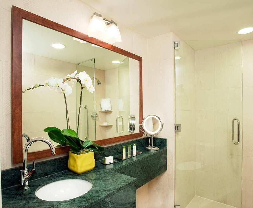 mirror bathroom property sink Suite