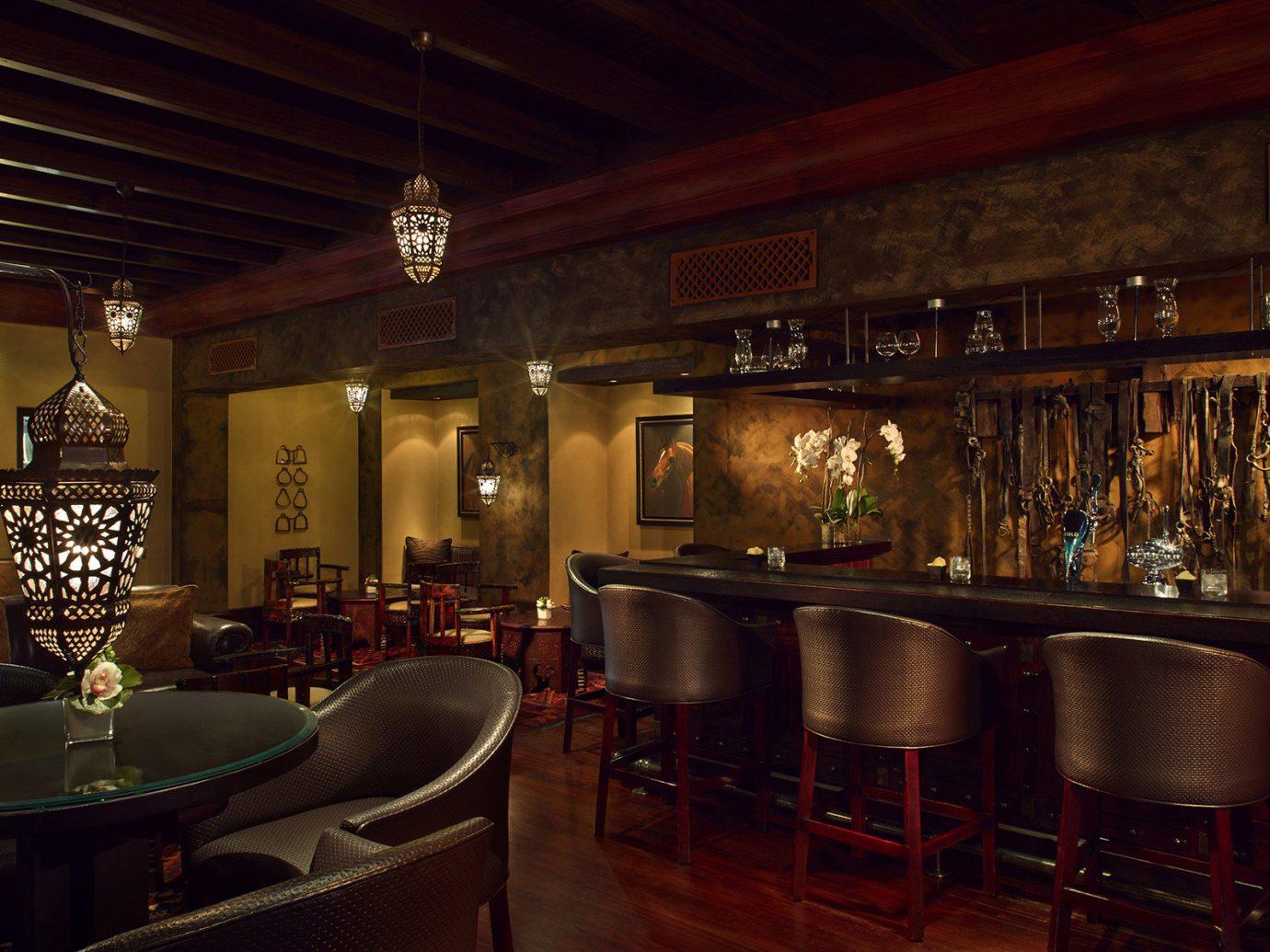 Dubai Hotels Luxury Travel Middle East indoor table ceiling floor chair room Bar restaurant interior design tavern pub café furniture several dining room