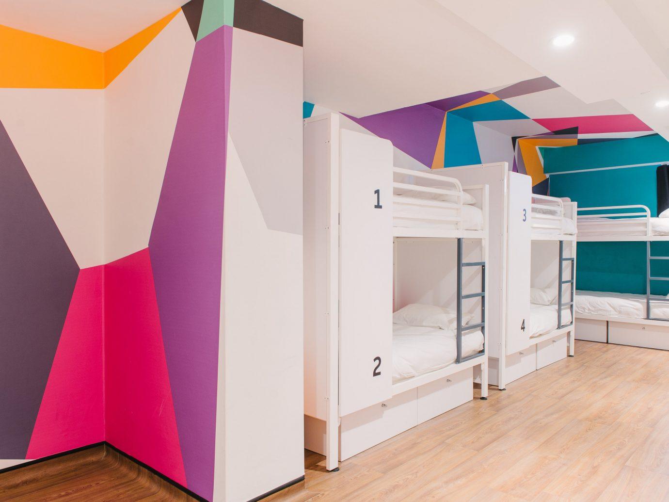 Budget Hotels London floor indoor color room interior design furniture bed home Design colored