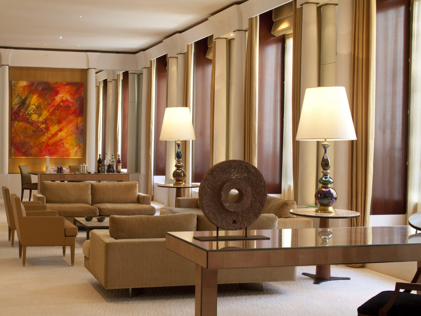 Hotels Luxury Travel floor indoor Living room wall living room interior design ceiling furniture Lobby table Suite interior designer flooring area