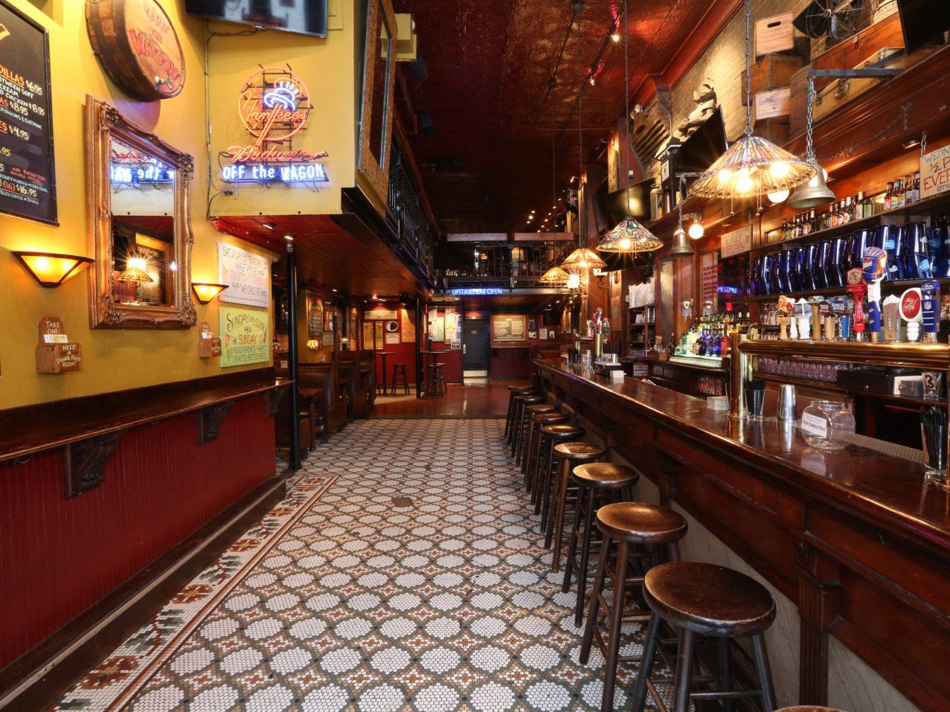Budget indoor floor building Bar restaurant platform