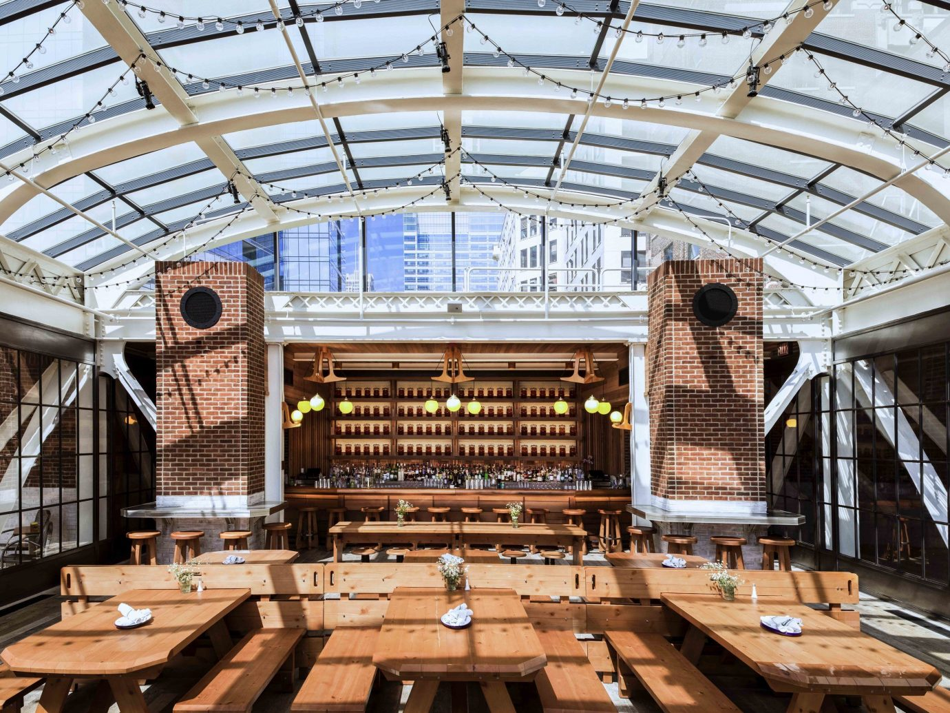 Food + Drink building indoor structure wooden daylighting roof wood several