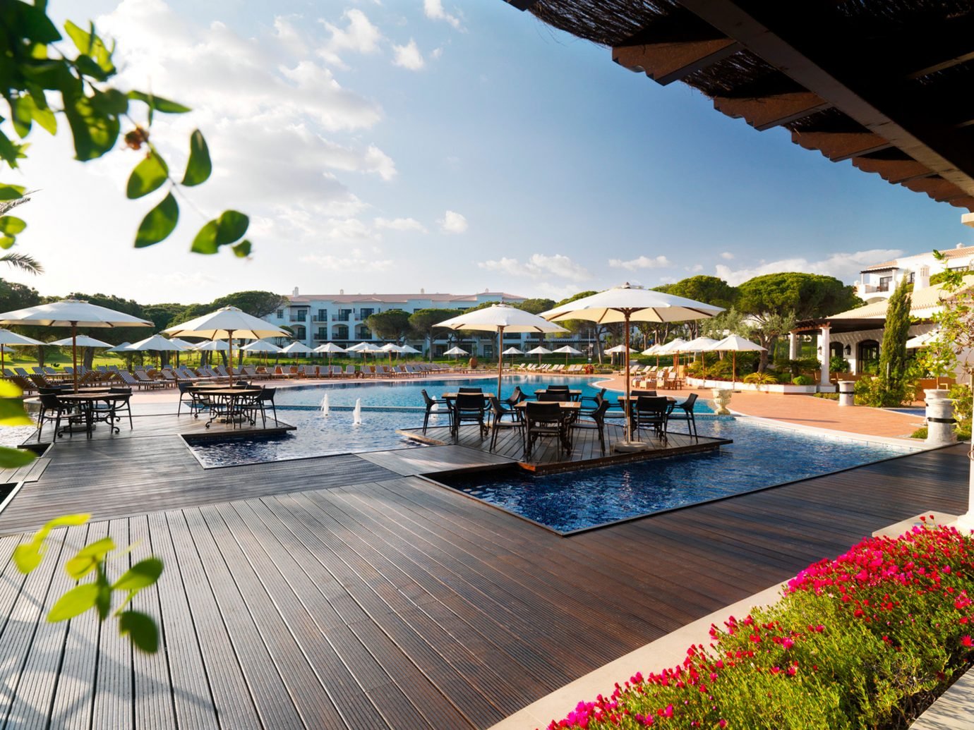 Family Hotels Patio Play Pool Resort sky outdoor leisure property swimming pool walkway plaza condominium vacation estate real estate