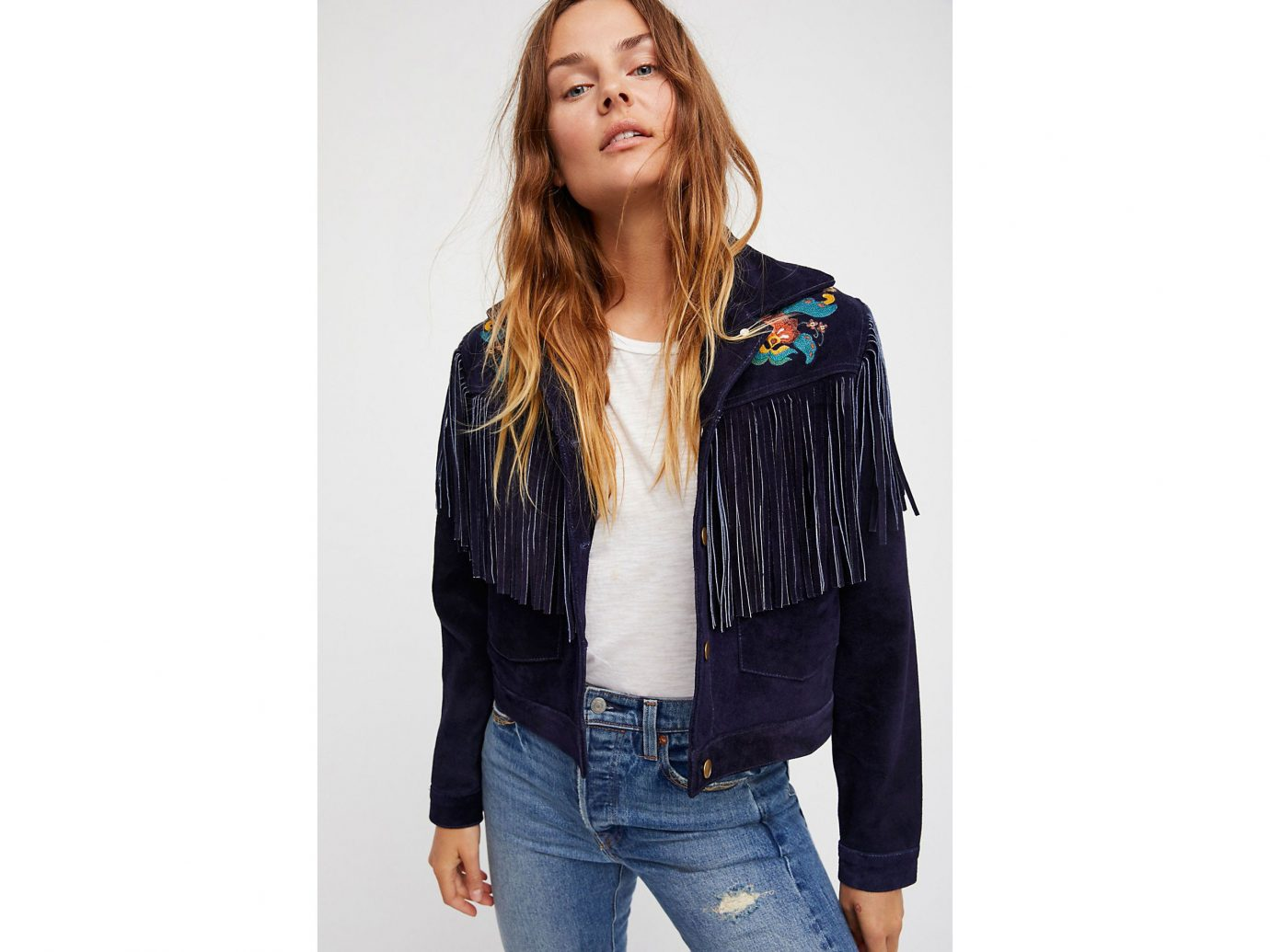 Travel Shop Travel Trends person clothing woman jacket standing jeans denim fashion model posing leather jacket sleeve leather