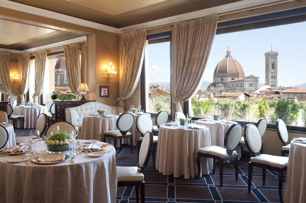 Food + Drink table chair indoor floor window meal room restaurant function hall estate dining room interior design banquet ballroom Resort Suite furniture