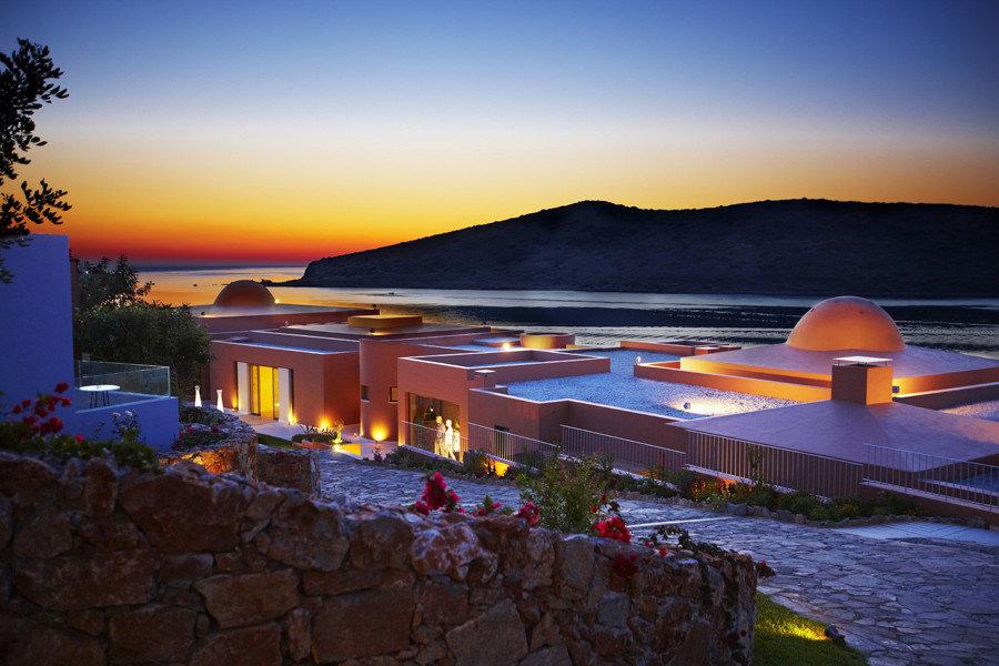 Hotels sky outdoor water night Sunset evening Resort vacation dusk Ocean Beach lighting Sea reflection orange line