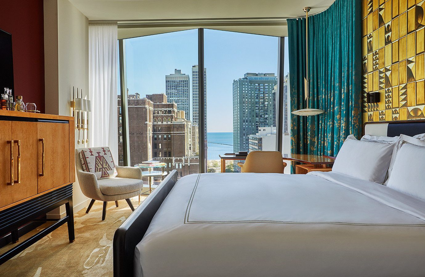 Road Trips Trip Ideas room Suite interior design window wall Bedroom hotel real estate window treatment condominium window covering ceiling curtain penthouse apartment