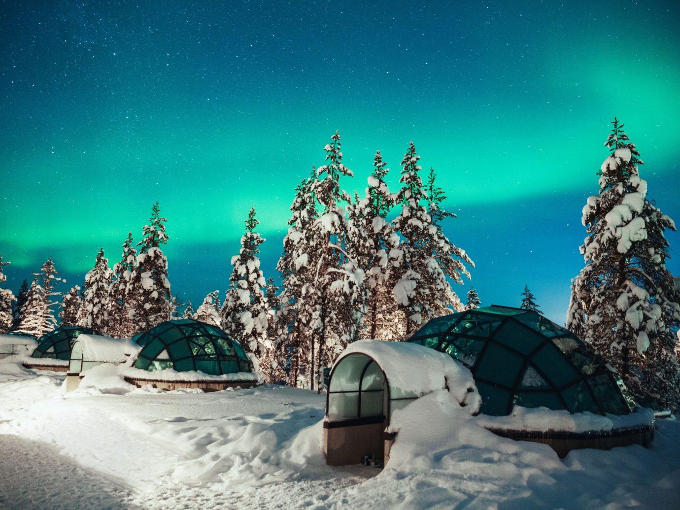 Trip Ideas outdoor Winter snow night screenshot world aurora