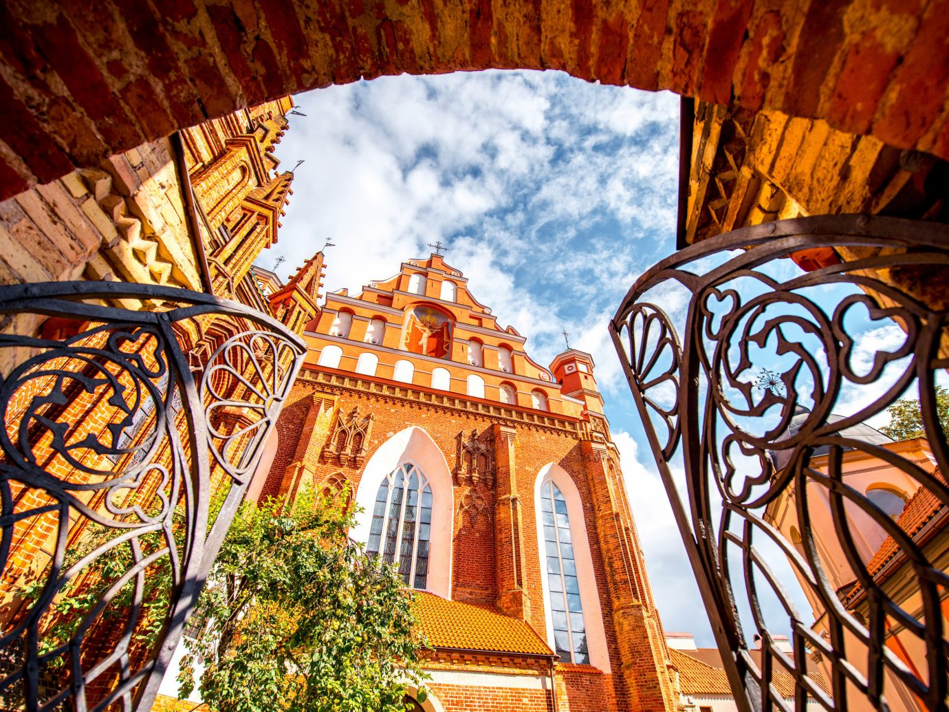 Trip Ideas color landmark outdoor building Architecture arch cathedral window place of worship facade autumn