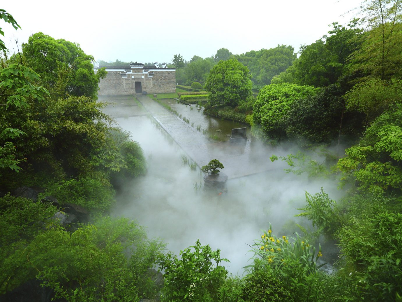 Boutique Hotels Hotels Luxury Travel tree train sky outdoor track water Nature green vegetation water resources body of water nature reserve River smoke waterway steam watercourse leaf hill station rainforest Forest bank grass mist traveling Jungle water feature landscape coming stream floodplain plant fluvial landforms of streams tributary riparian zone moving wooded surrounded lush