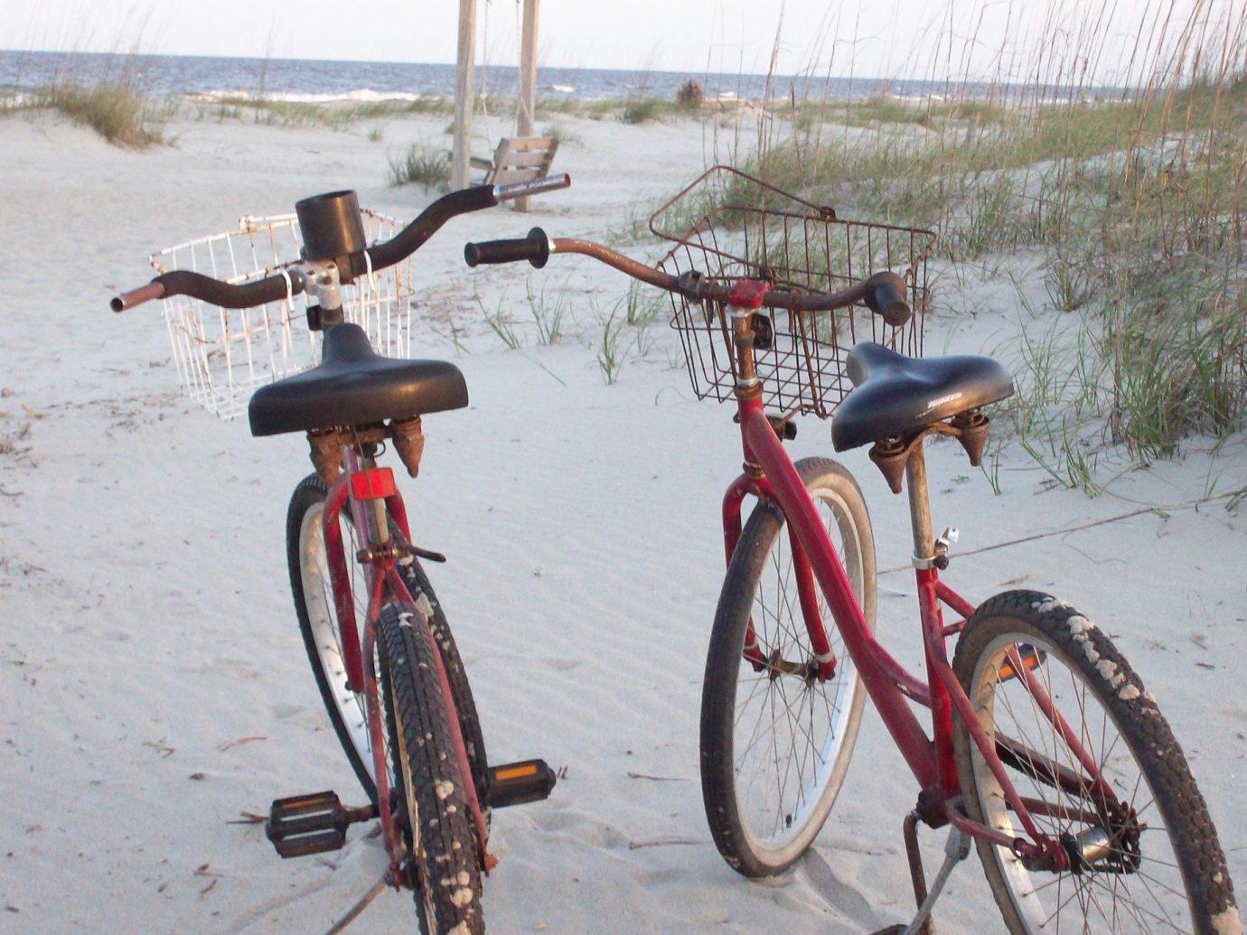Bikes on the beach in Savannah, GA