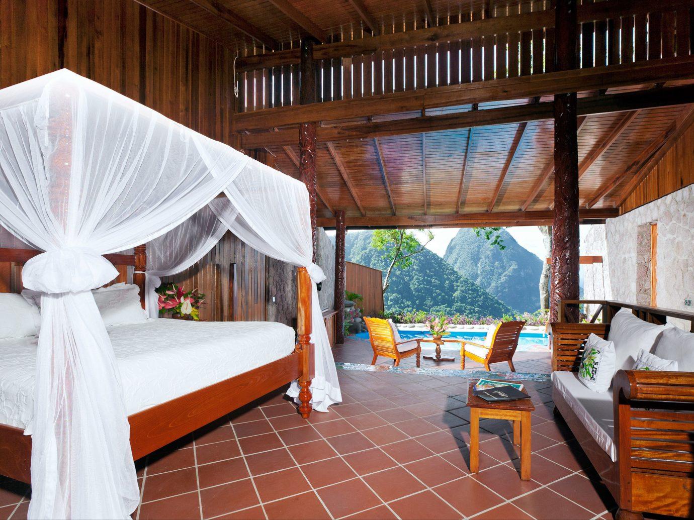 Adult-only Bedroom Honeymoon Hotels Luxury Luxury Travel Resort Romance floor indoor property room estate wooden Villa cottage interior design real estate Suite wood furniture