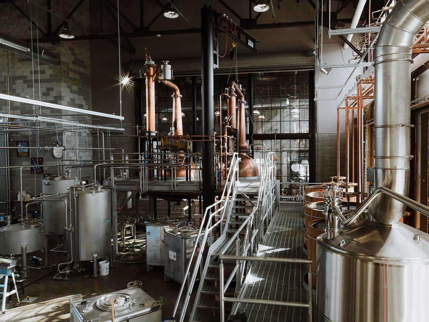 Food + Drink indoor brewery industry metal factory cooking