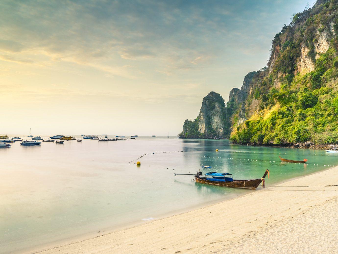 beautiful sandy beach Phra Nang Cave Beach, Krabi