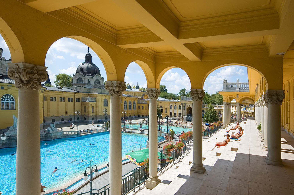 Trip Ideas leisure building estate vacation Resort palace interior design arch swimming pool colonnade walkway