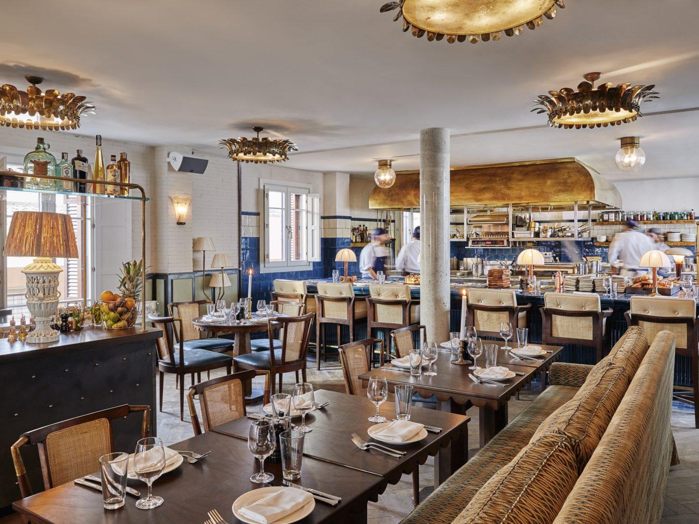 Barcelona Hotels Spain indoor property room restaurant meal ceiling interior design estate café Boutique Lobby Bar furniture several