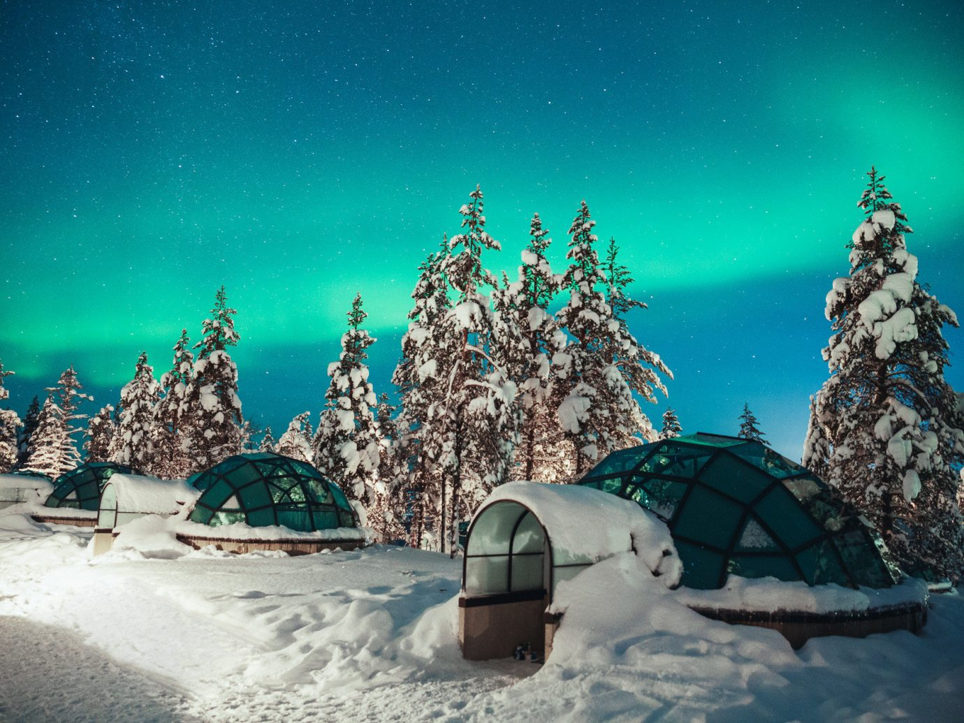 Boutique Hotels Romance Trip Ideas outdoor blue Winter Nature snow sky freezing tree phenomenon atmosphere fir computer wallpaper arctic night space ice stock photography world