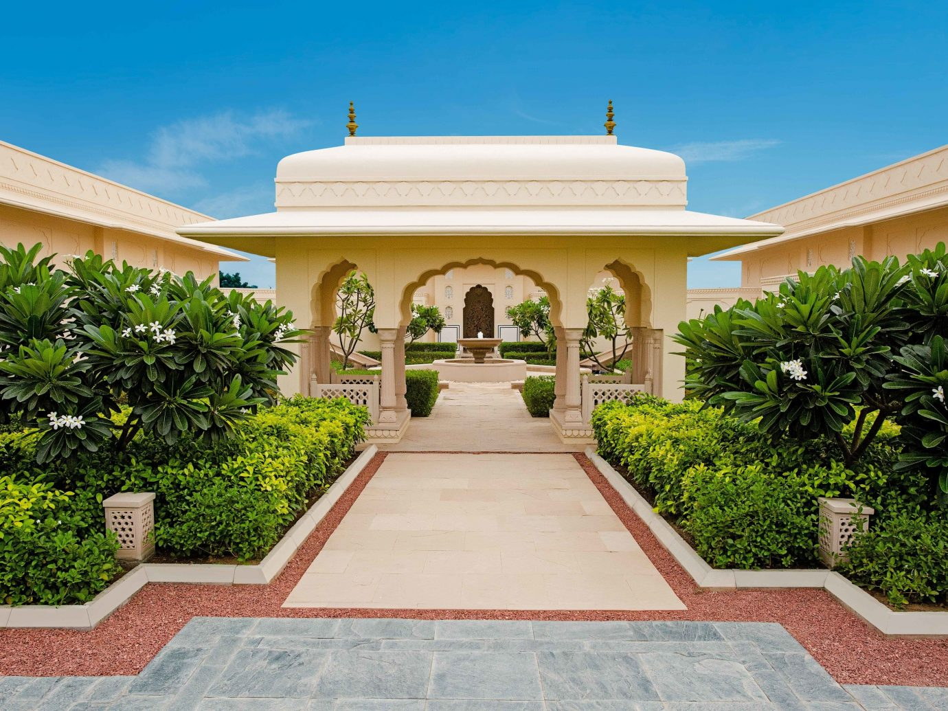 estate property home mansion real estate hacienda residential area sky Villa house Courtyard facade official residence landscaping building palm tree