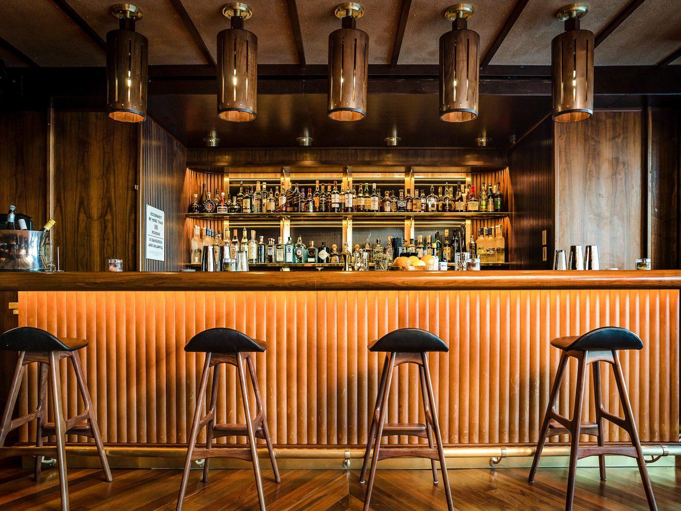 Boutique Hotels Food + Drink Hotels chair indoor floor Kitchen Bar interior design restaurant Dining café pub table tavern set