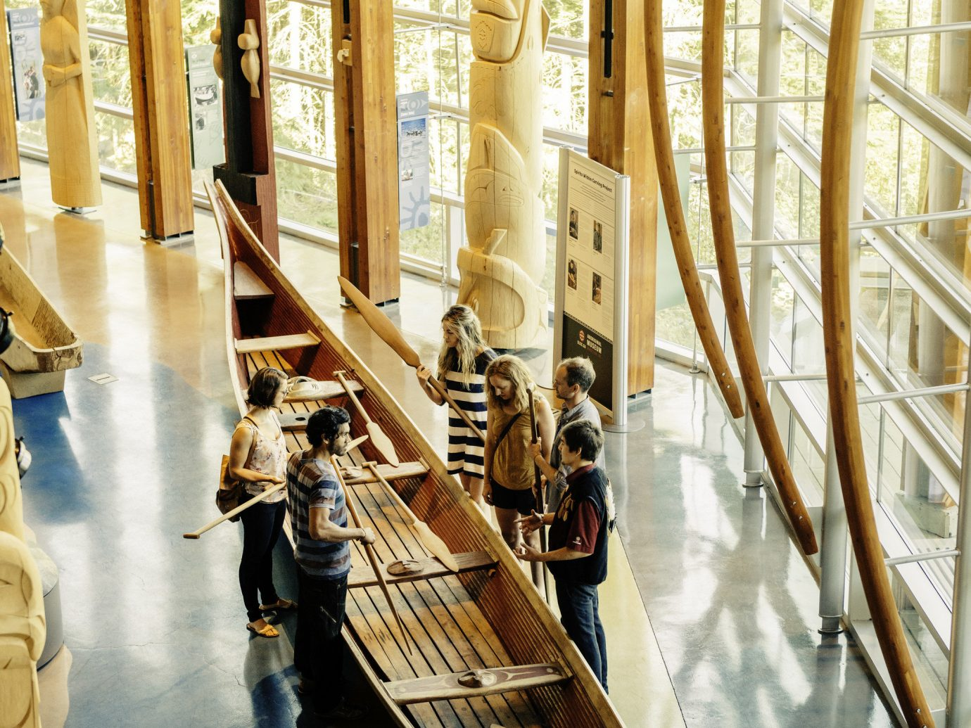 Trip Ideas floor indoor art wood tourist attraction interior design vehicle
