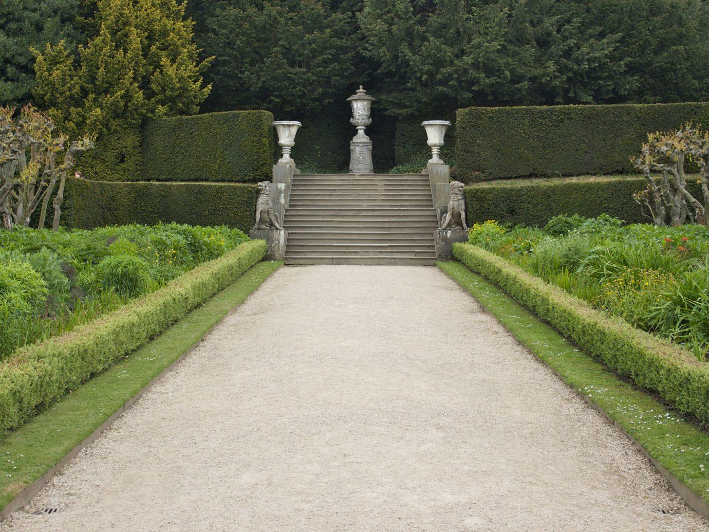 Trip Ideas grass tree outdoor green walkway wall Garden estate rural area landscape château lawn waterway reservoir stone