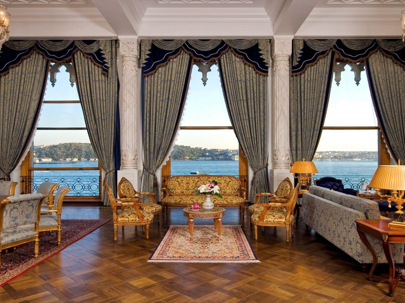 Hotels indoor floor room Living chair property estate interior design living room home Resort window treatment curtain palace furniture