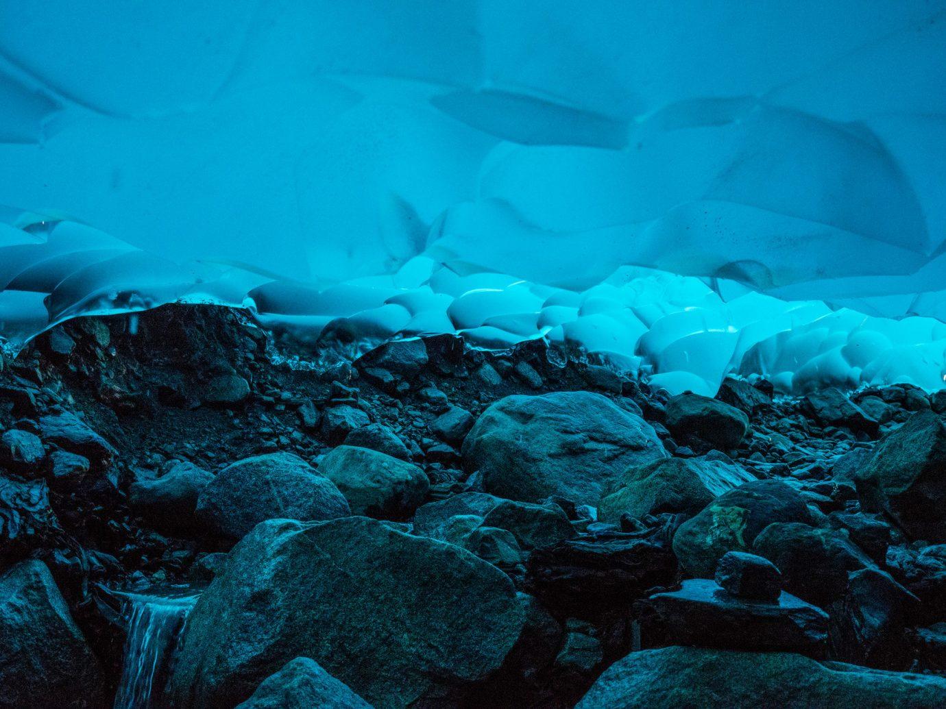 blue calm Design glaciers ice ice cave majestic Nature remote Scenic views serene Trip Ideas animal geographical feature landform marine biology Ocean cave glacial landform iceberg formation underwater arctic ocean Sea fish