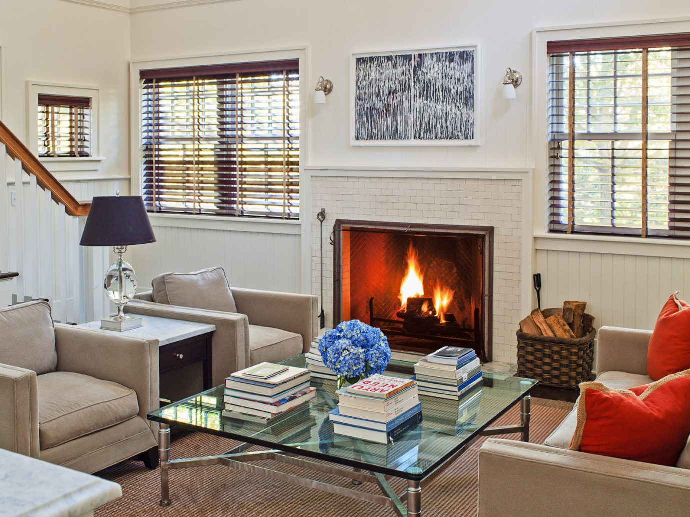 Beach South Fork The Hamptons indoor Living sofa window room living room Fireplace floor wall fire home interior design hearth real estate furniture window treatment window covering interior designer decorated