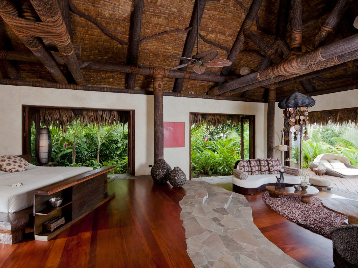 All-Inclusive Resorts Hotels Luxury Travel indoor floor property Living room estate living room home house interior design Villa real estate cottage wood mansion farmhouse furniture decorated stone