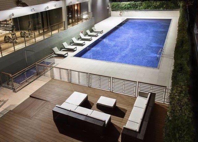swimming pool property flooring condominium Villa living room