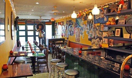 Food + Drink indoor ceiling room Bar restaurant cluttered