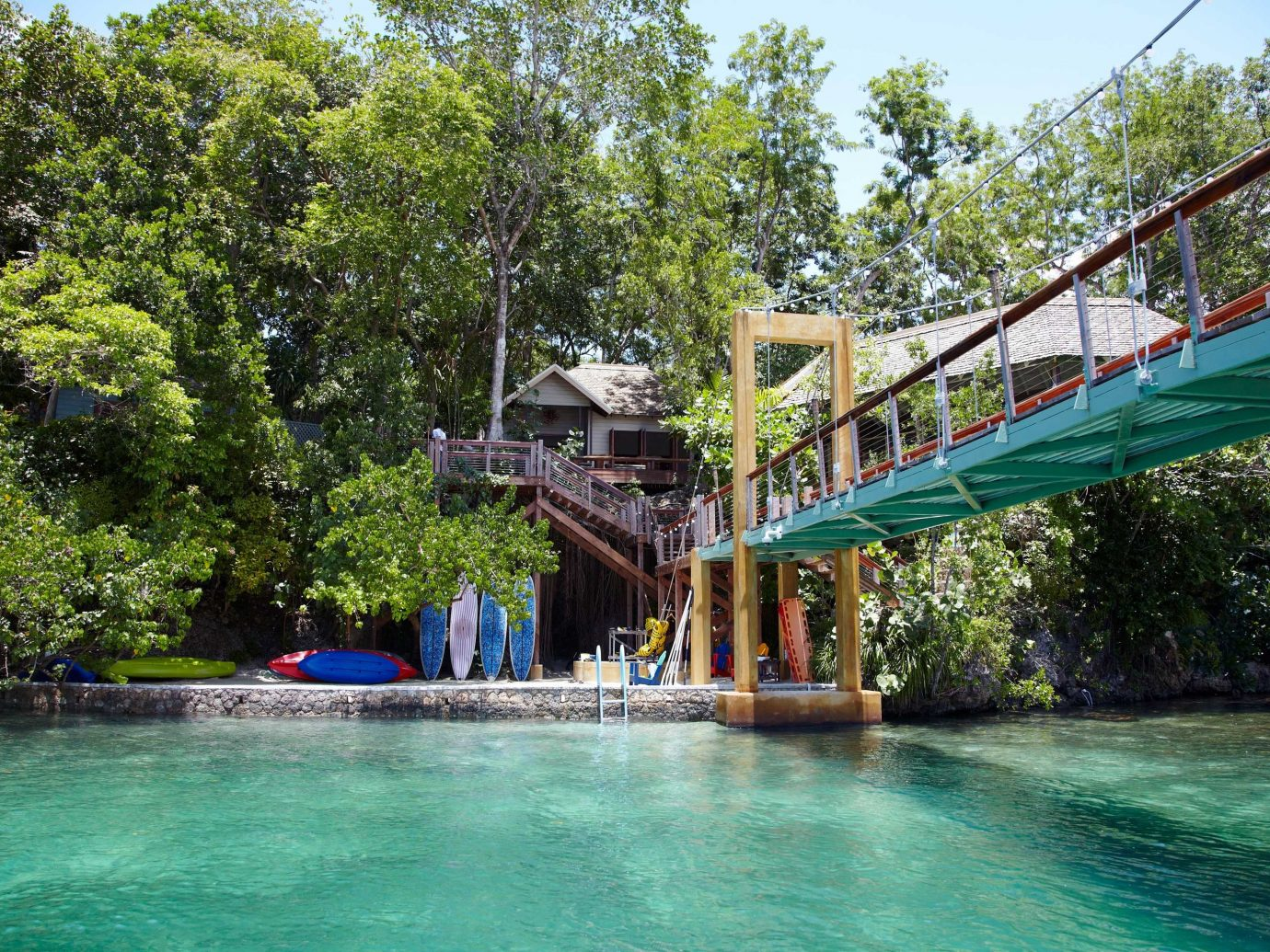 Grounds Hotels Luxury Outdoor Activities Resort Romantic Tropical Waterfront tree outdoor water leisure Boat amusement park Water park swimming pool River park Lake bridge swimming surrounded